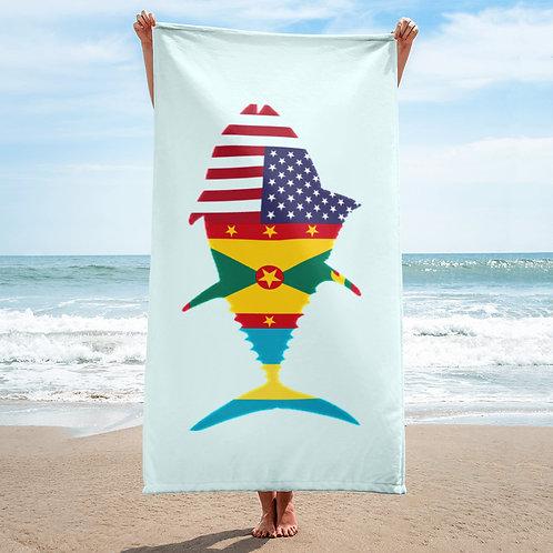 FDC Tuna Flag Beach Towel