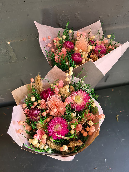 Dried Bouquet - Pretty In Pink