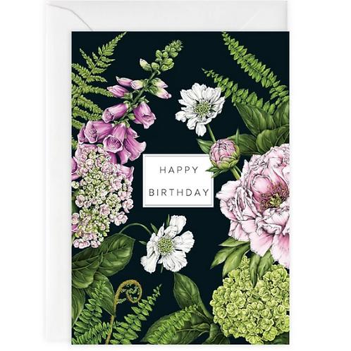 Summer Garden 'Happy Birthday' Card