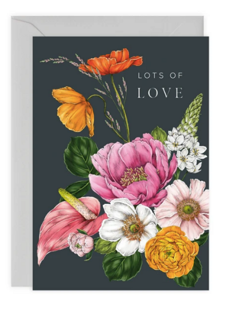 Floral Brights 'Lots of Love' Card