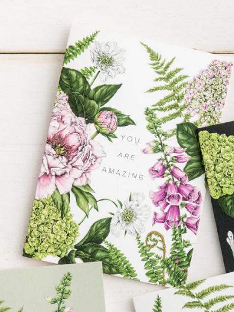Summer Garden 'You are Amazing' Card
