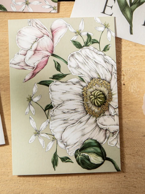 'Spring Blossom Green' Card