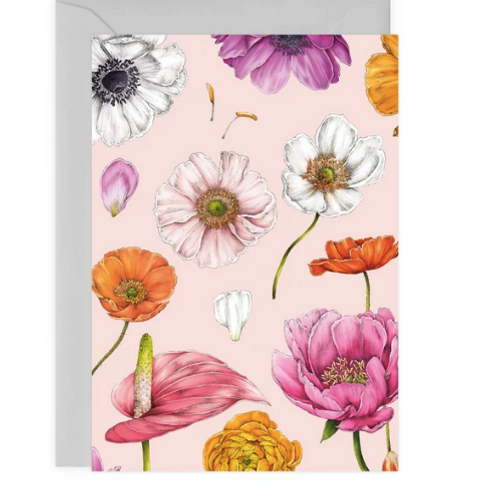 Floral Brights Pink Card
