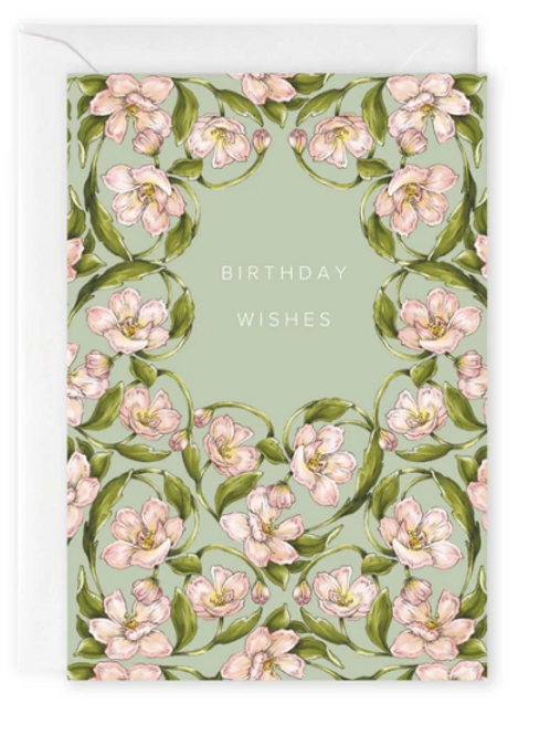 Flora Nouveau 'Birthday Wishes' Card