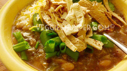 White Bean Jackfruit Verde Chili