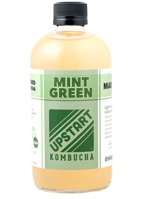 upstart kombucha mint green flavor