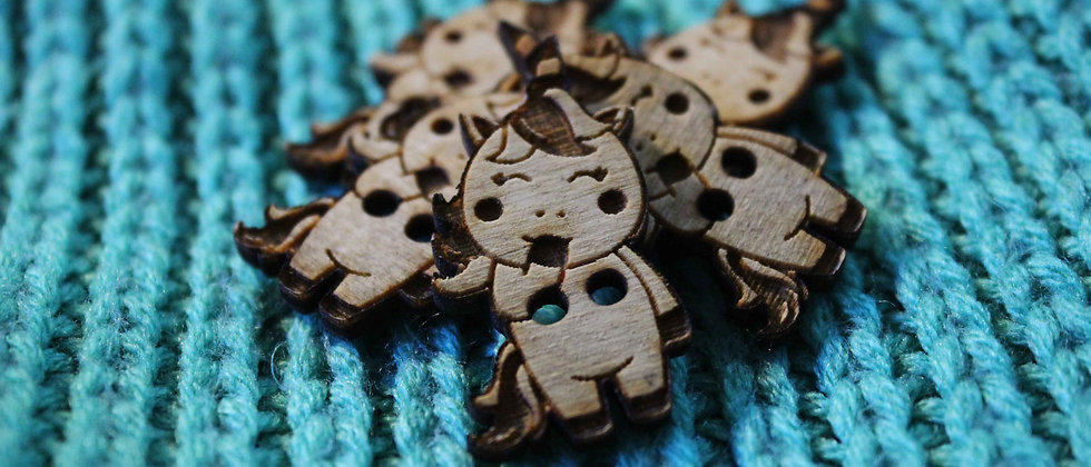 Unicorn Wooden Buttons