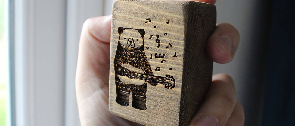 Singing Guitar Bear Light Pull