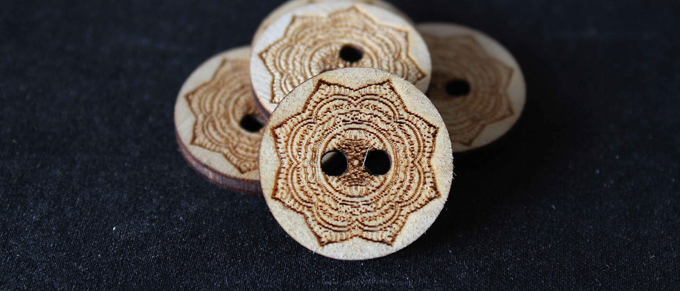 Mandala Wooden Buttons