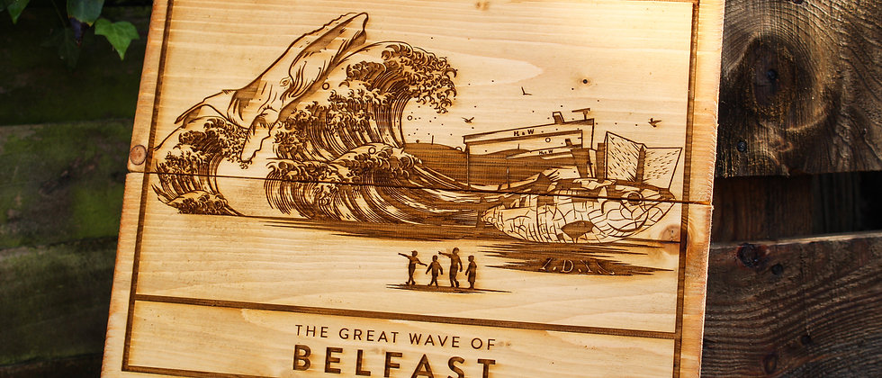 The Great Wave of Belfast - Panel Art