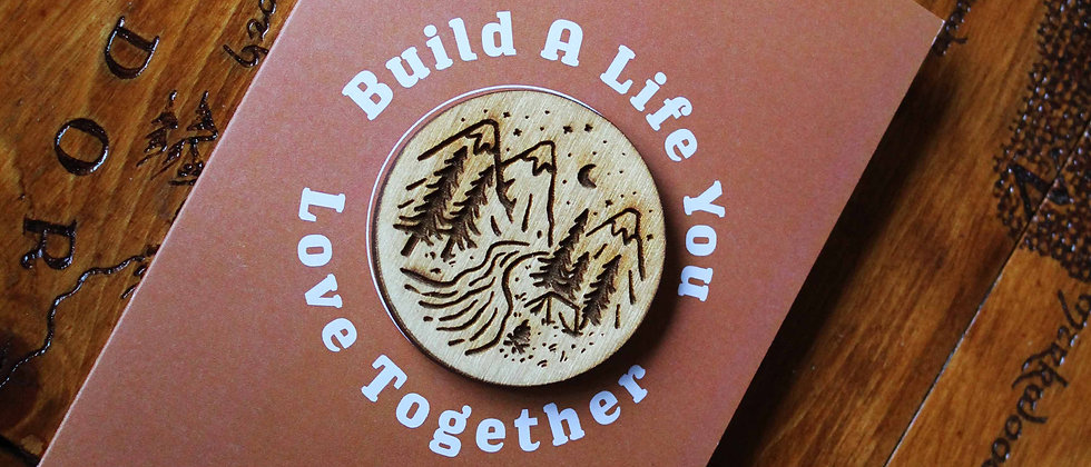 Build A Life You Love Together - Greeting Card & Magnet
