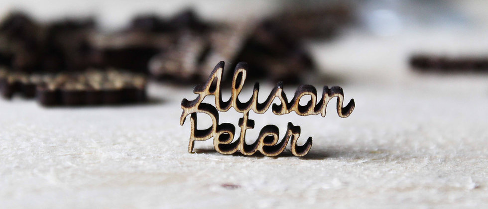 Wooden First Names Confetti