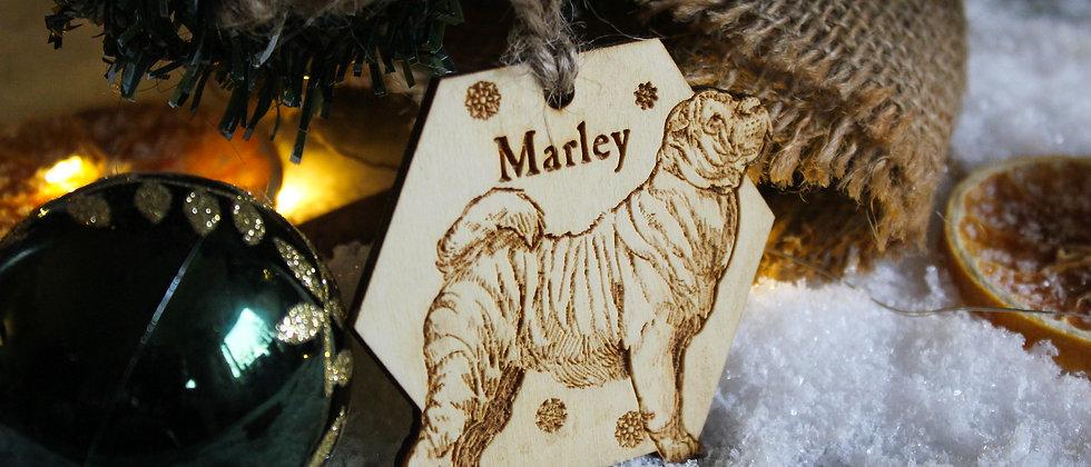 Shar Pei Christmas Bauble