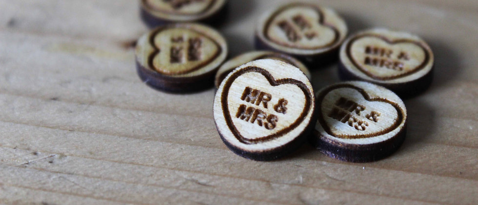 Wooden Love Heart Confetti