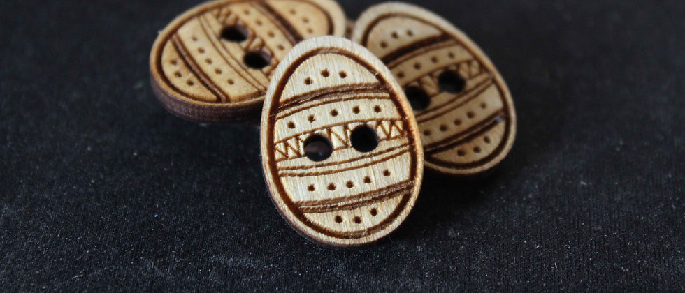Easter Egg Wooden Buttons