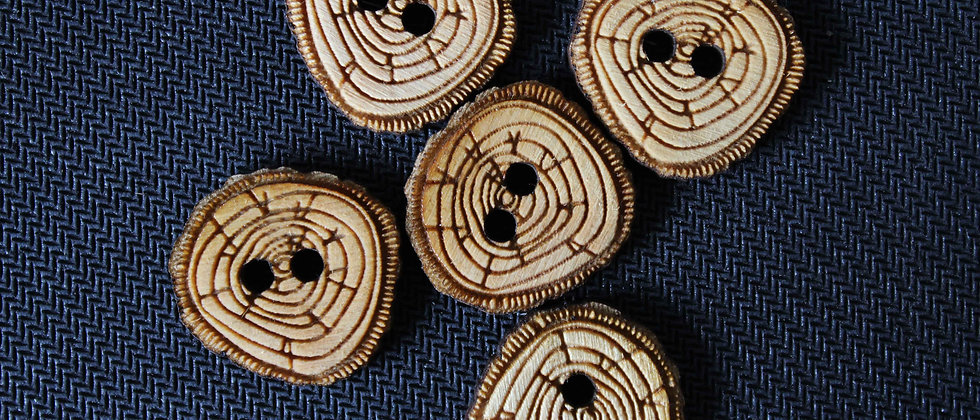 Log Slice Wooden Buttons