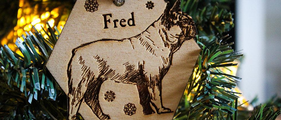 French Bulldog Christmas Bauble