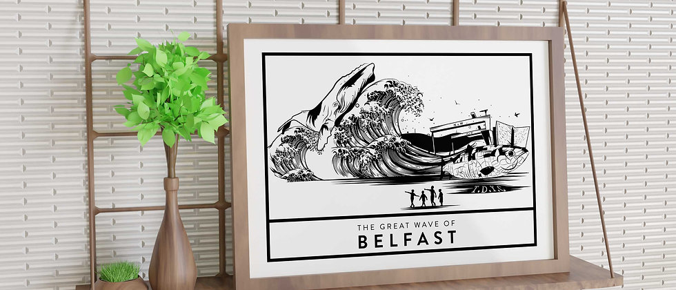 The Great Wave Of Belfast Print