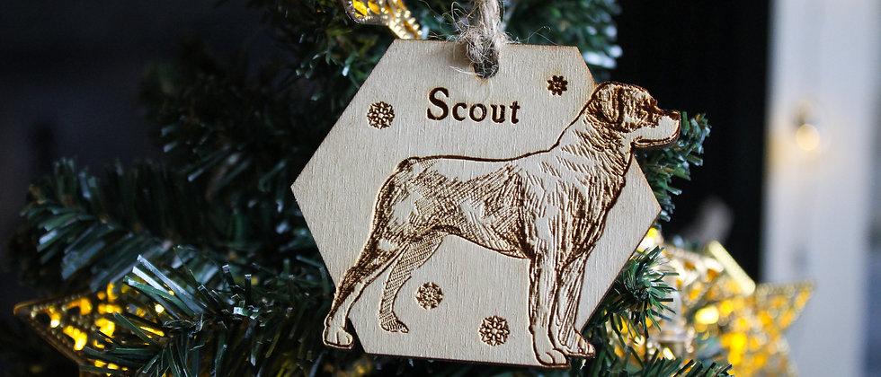 Rottweiler Christmas Bauble
