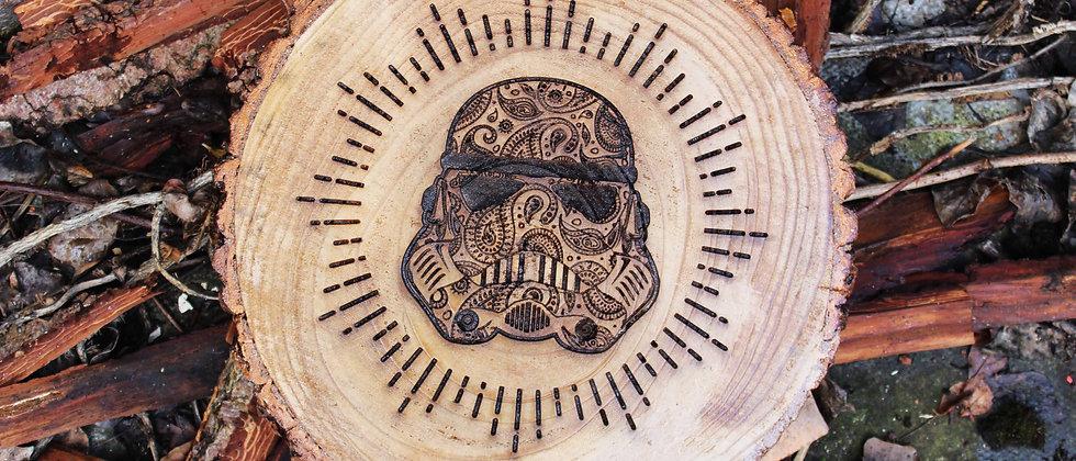 Storm Trooper Log Slice