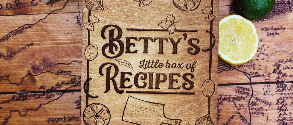 Personalised Recipe Book Box
