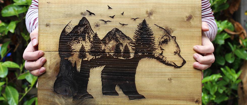 Bear Panel Art