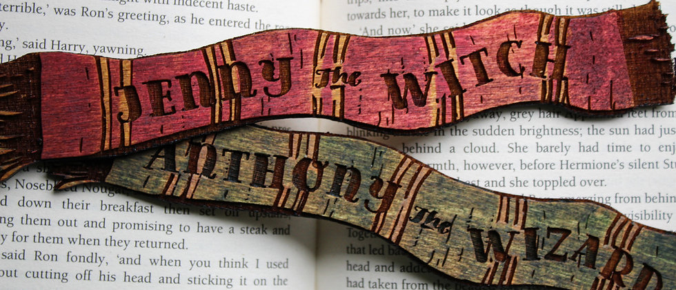Personalised Witch and Wizard Scarf Bookmarks