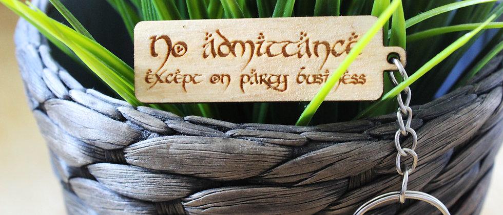 No Admittance Keyring