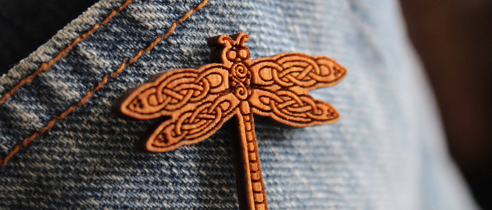 Celtic Dragonfly Pin