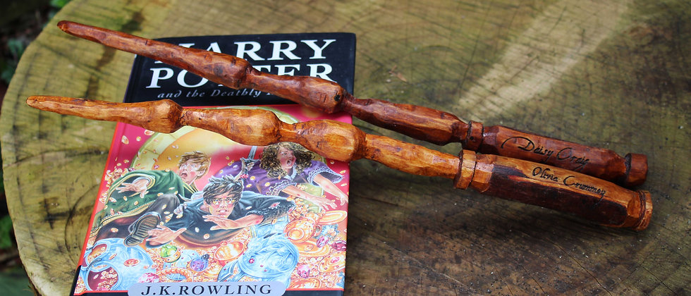 Hand Carved Personalised Wands