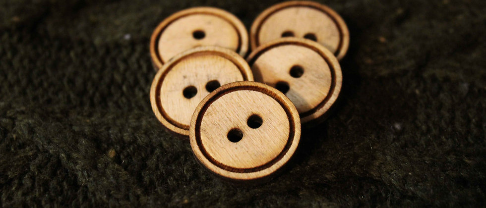 Traditional Wooden Buttons