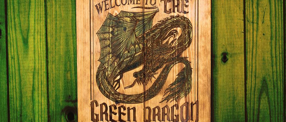 The Green Dragon Panel Art