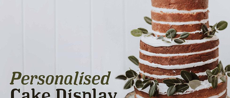 Leaf Log Slice Cake Display