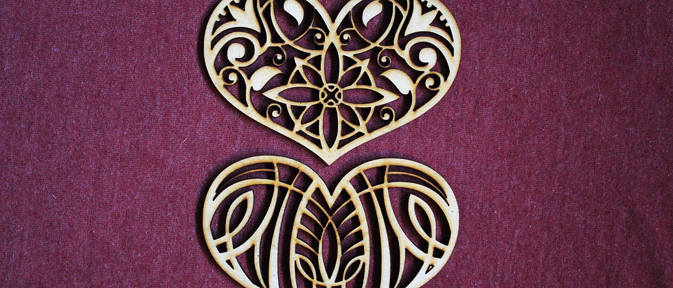 Ornate Heart Shapes