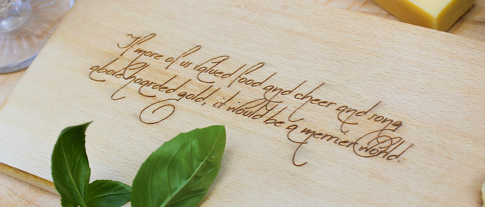 Small Cheese Board - with Tolkien Quote