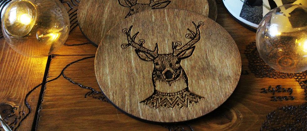 Reindeer Coasters