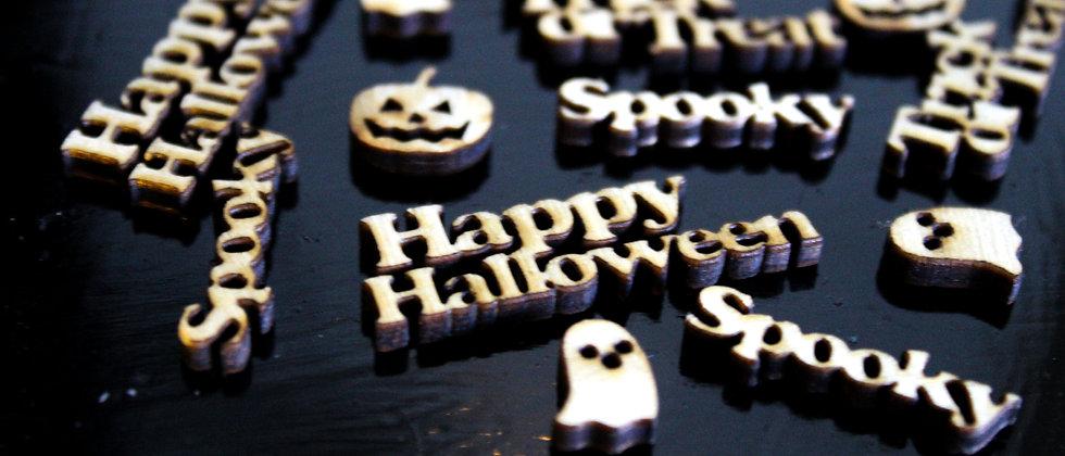 Halloween Wooden Confetti