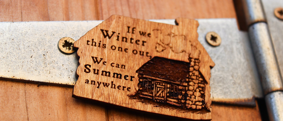 Winter Fridge Magnet