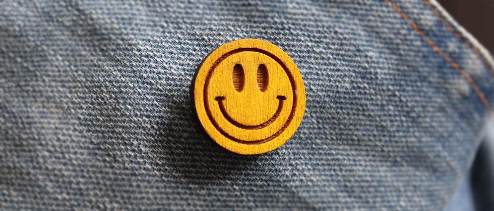 Acid House Smiley Pin