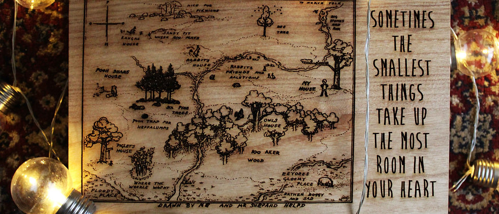 Hundred Acre Wood Map Keepsake Box