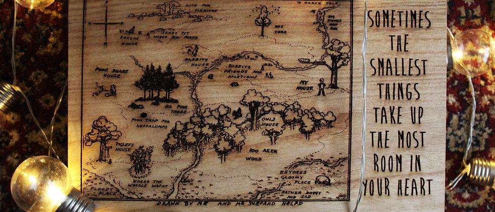 Hundred Acre Wood Map Keepsake Box