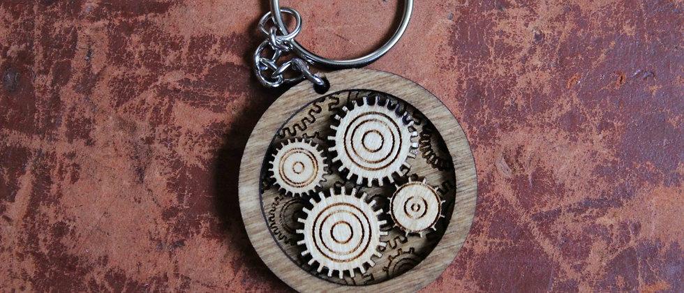 Steampunk Gears Keyring