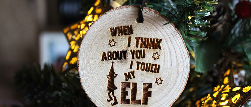 Touch My Elf Bauble