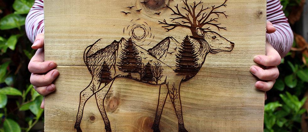Deer Panel Art