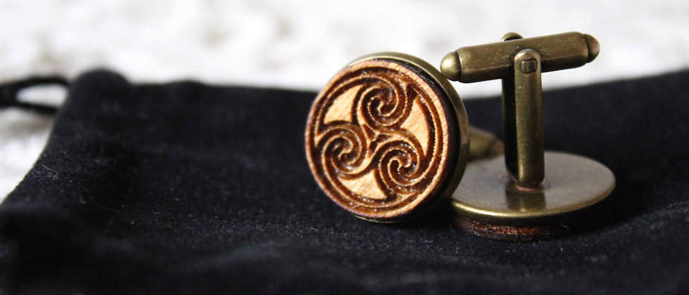 Celtic Triskelion Cufflinks