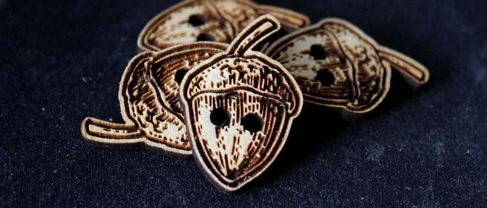 Acorn Wooden Buttons