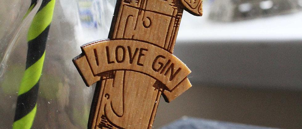 I love Gin Keyring