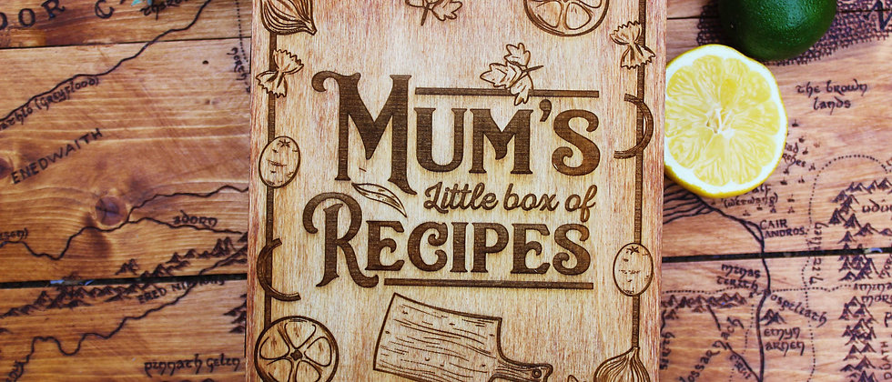 Mum's Recipe Book Box