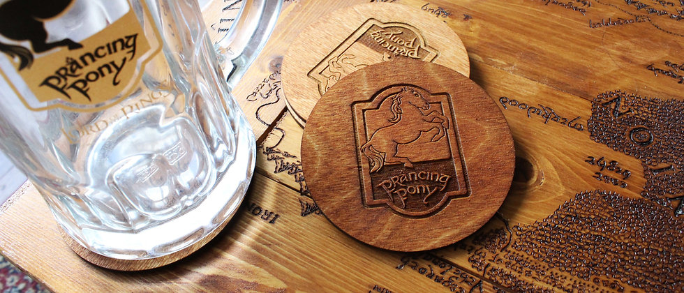 The Prancing Pony Coasters