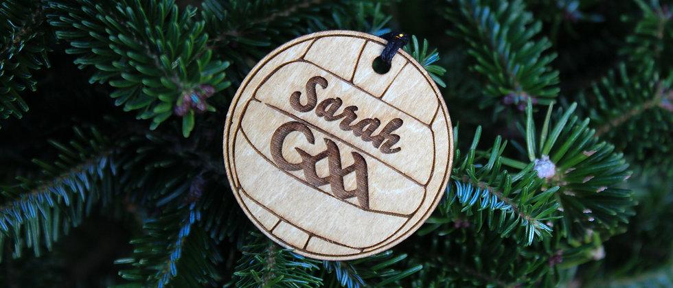 Personalised Christmas Gaelic Football Ornament